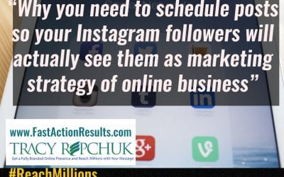Why you need to schedule posts so your Instagram followers will actually see them as marketing strategy of online business