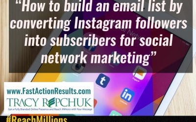 How to build an email list by converting Instagram followers into subscribers for social network marketing